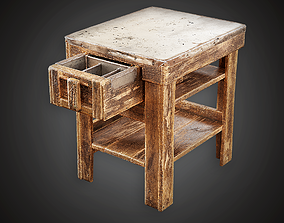 3D model Side Table - MVL - PBR Game Ready
