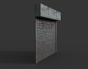 Metal industrial door 3D asset