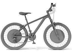 Detailed 3D Bike transportation