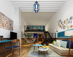 3D model contemporary Modern apartment