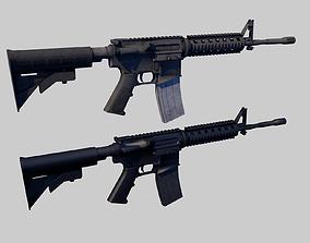 M4A1 Rifle 3D asset low-poly