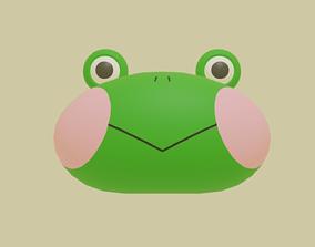 3D model cute frog head toy