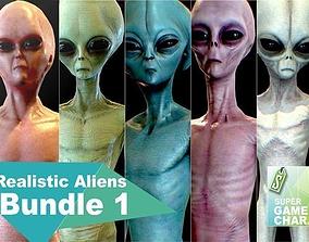 3D model Realistic Aliens Bundle 1