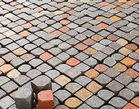 Cube stone granite decoration 3D