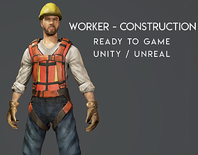 animated Worker - Construction - Ready to Game - Low 4