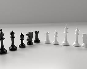 3D Plastic Chess Pieces