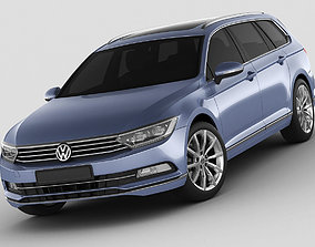 VW Passat Variant 2015 3D model