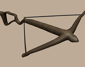 3D asset Wood Crossbow - Simple Weapon
