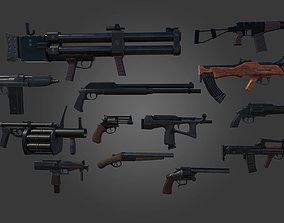 Military Weapon Pack Guns 3D asset