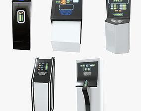 3D asset Terminals Set