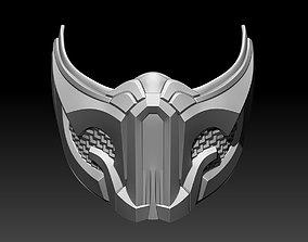 3D print model Sub Zero mask for cosplay Mortal Kombat 2