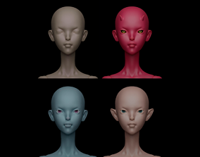 Pack of 4 editional heads for Aurora 3D printable model 2