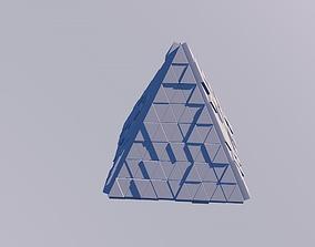Sci Fi Object No 20 - Pyramid Sphere Torus 2019 3D asset 1