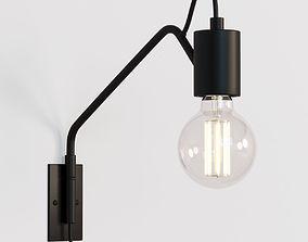 3D model Swing Arm Wall Lamp Black