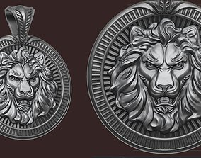 3D print model jewelry Lion Pendant