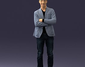 3D Guy in jeans and blue jacket 0374