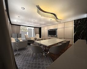 3D model living room chair armchair