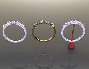 Basket 1 Quarter Diamond Fashion Band 3D printable model