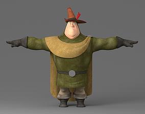 Cartoon fat man 3D model