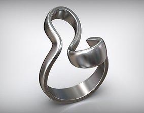 Wave Minimal Mobius Ribbon Ring 3D print model