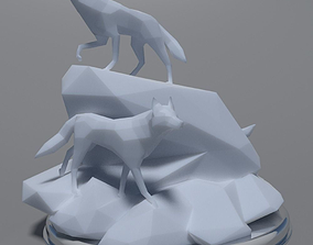 Low Poly Wolves 3D Print