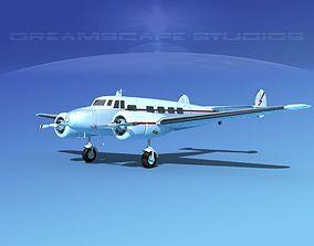 3D model Lockheed L10 Electra Private 3