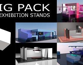 3D asset 5 Different Exhibition Stands BIG PACK