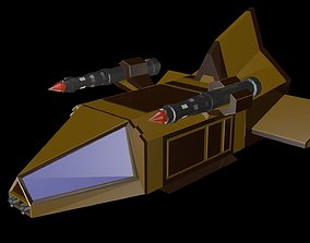 3D model realtime Low poly spaceship