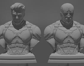 Captain America Bust 3D print model 3D print model