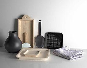 Scandinavian Kitchen Utensils 3D model