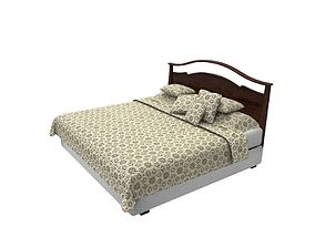King Sized Bed 3D asset