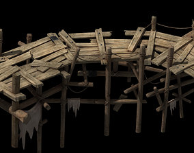 Wooden bridge share 3D