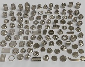 bolts and knobs-part-4 -106 pieces 3D model