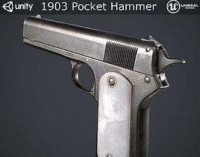 1903 Pocket Hammer Pistol 3D model low-poly