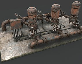 3D Rusted pump station