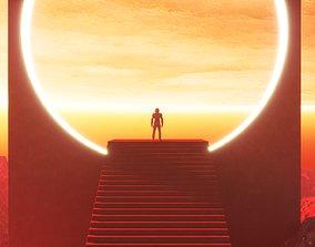 Futuristic sci-fi art The Portal 3D model