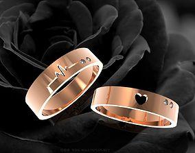 3D printable model 354 Wedding rings