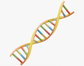 3D asset DNA Double Helix