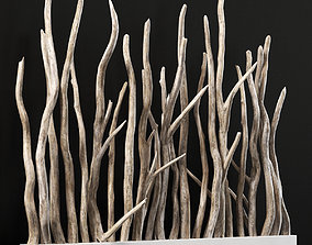 Planter wall branch crooked old n1 3D