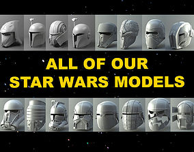 All of our Star Wars 3D printable models wars