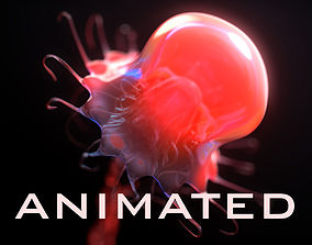 3D model Jellyfish rigged animated