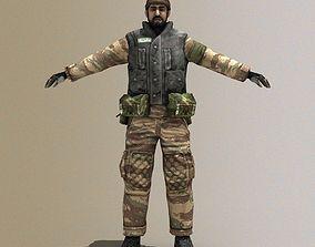 3D asset Arab Terrorist