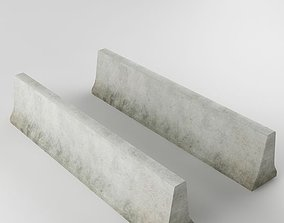 Traffic concrete barrier 02 3D asset