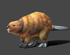 Beaver - Low poly Animal 3D asset