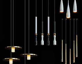 Fulcrum light chandelier 3D