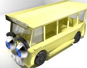 Cartoon Vehicle - Bus 3D