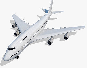 Boeing 747-200 Generic White 3D model