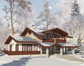 Wooden House Guberniya 3D model