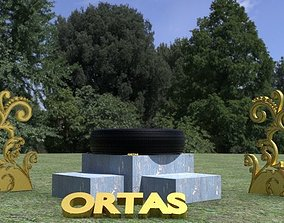 ORTAS TIRE NO 7 GAME READY ready 3D asset