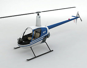 Robinson R22 Helicopter 3D asset